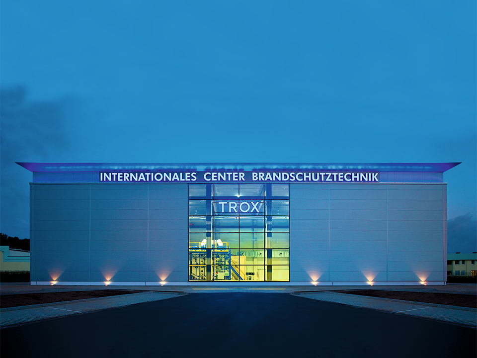 Internationales Center Brandschutztechnik TROX kopiëren
